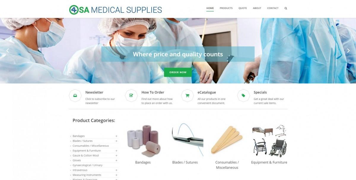 4SA Medical Supplies Screenshot