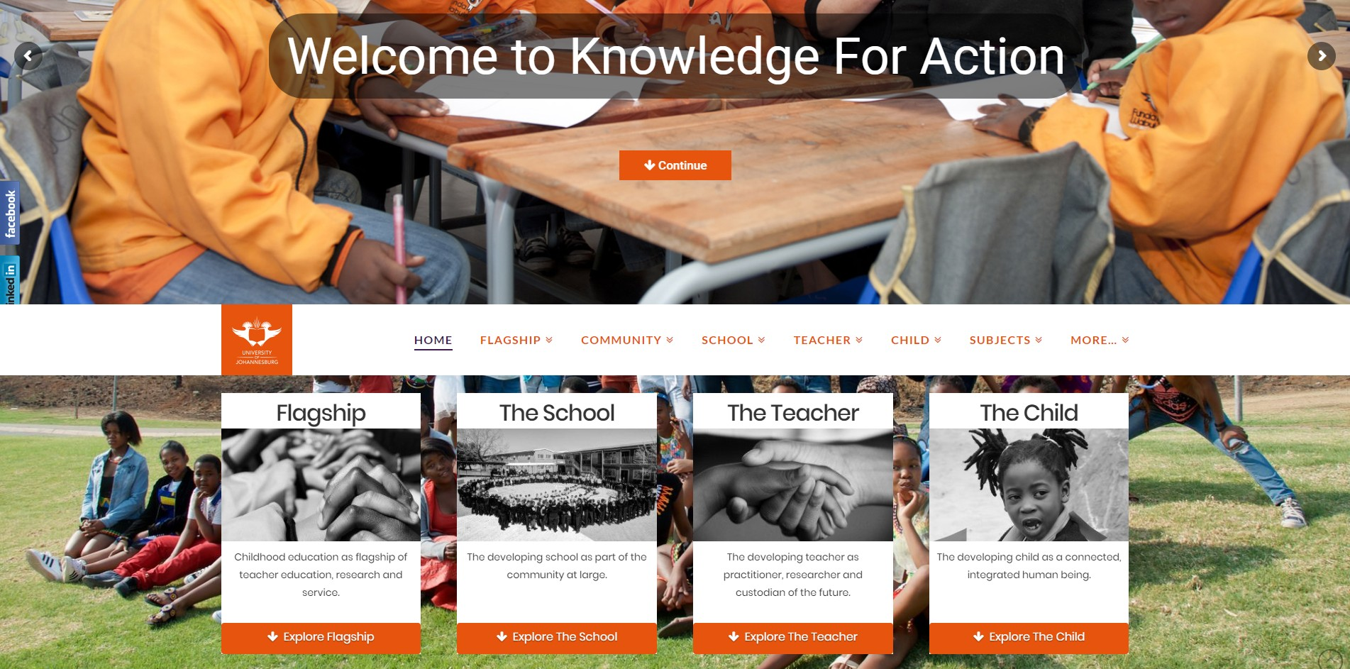 UJ Knowledge For Action Website